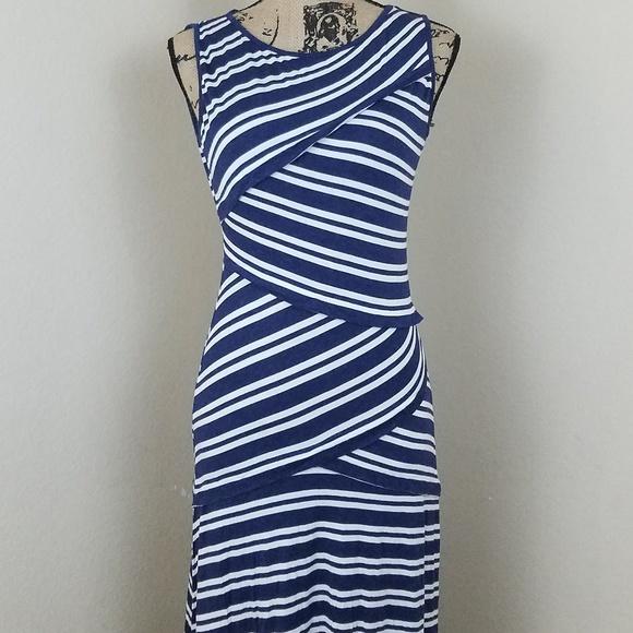1e07462b996 Max Studio Stripped Maxi Dress sz S. M 5b70e11f8ad2f9fd3b5cbdb6